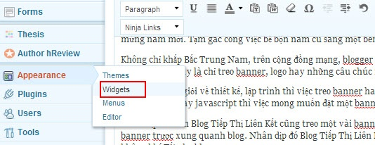 Tạo Banner Trược Hai Bên Blog