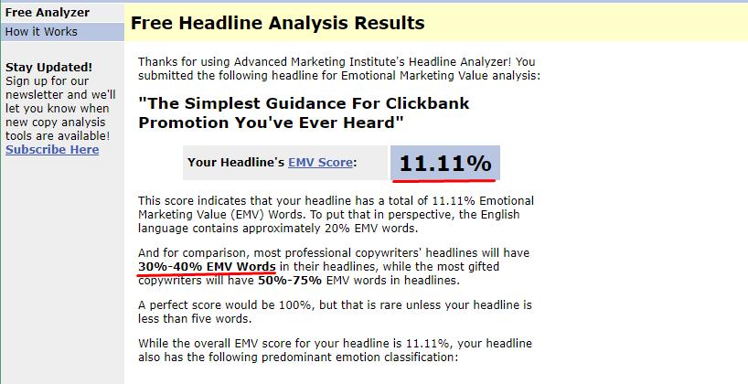 công cụ phân tích tiêu đề EMV